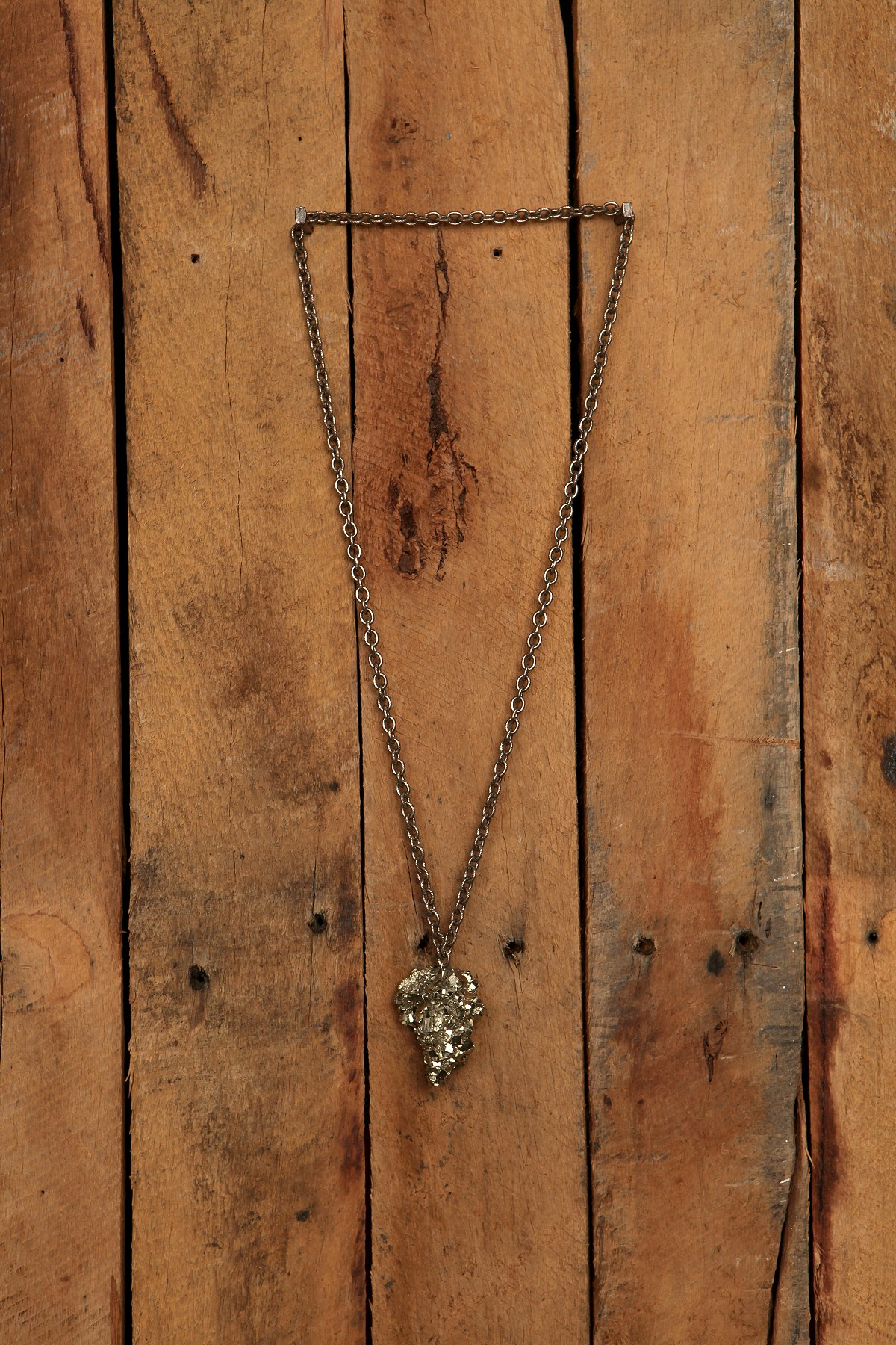 Fools Gold Rock Necklace