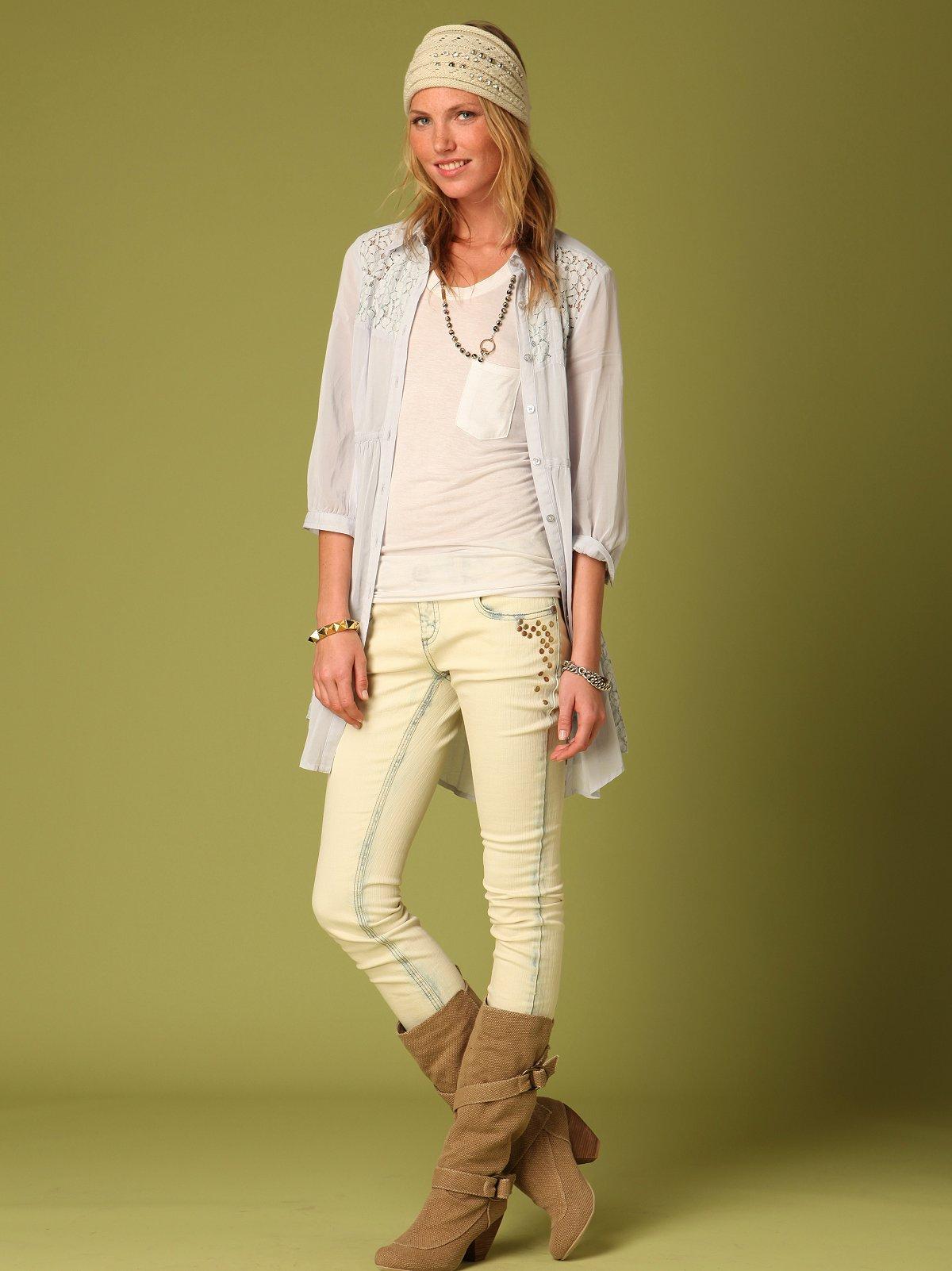FP Super Skinny Circle Stud Jeans