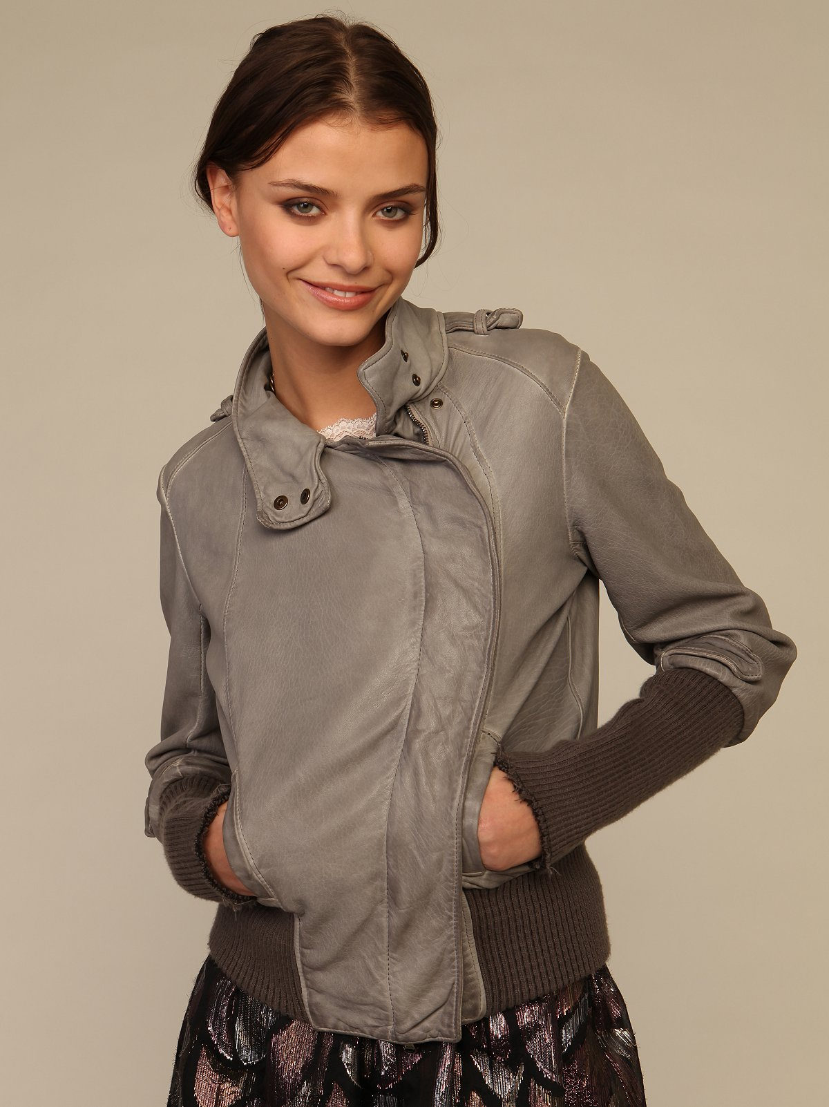 Leather Bomber Jacket By Giorgio Brato