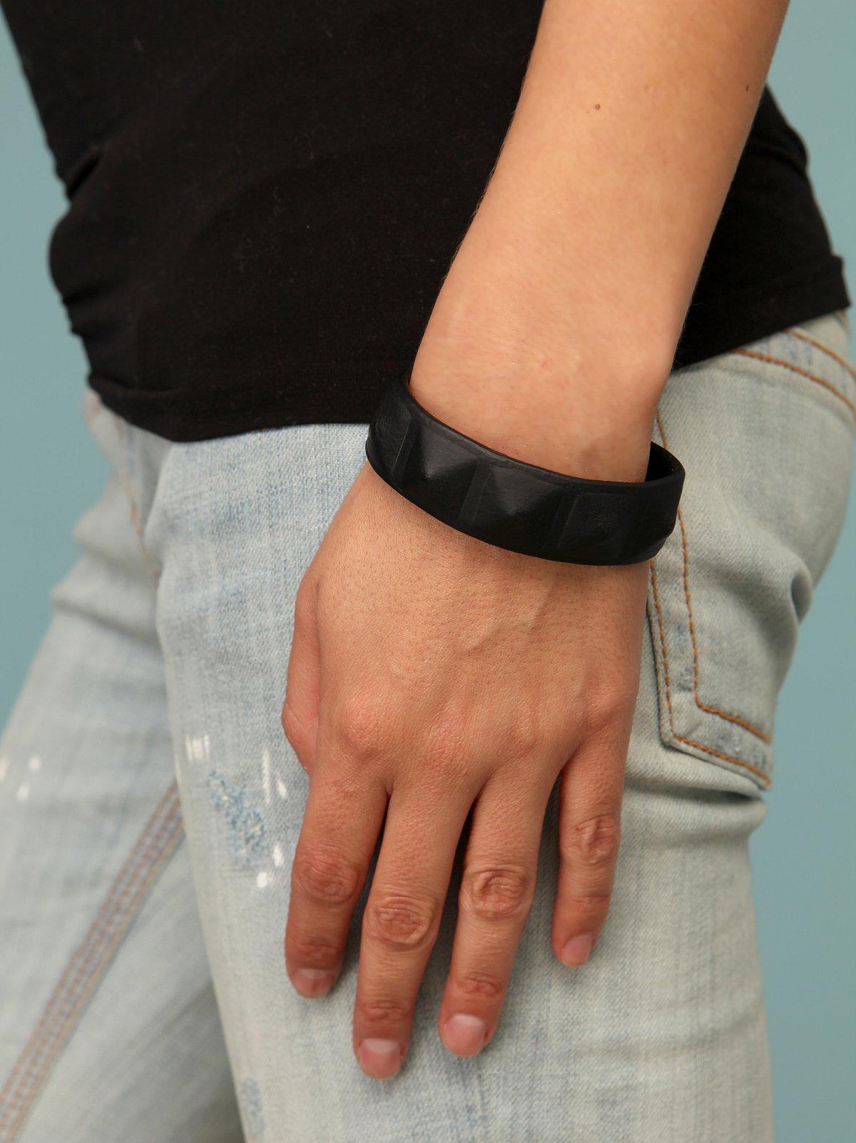 Leather Grommet Bracelet