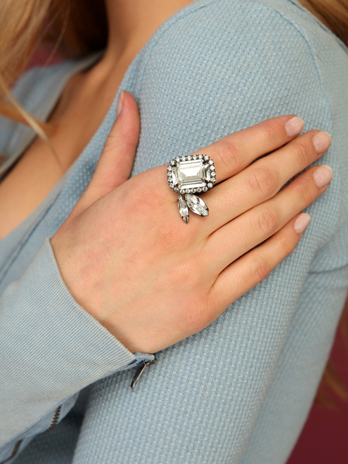 Sugar Plum Crystal Ring