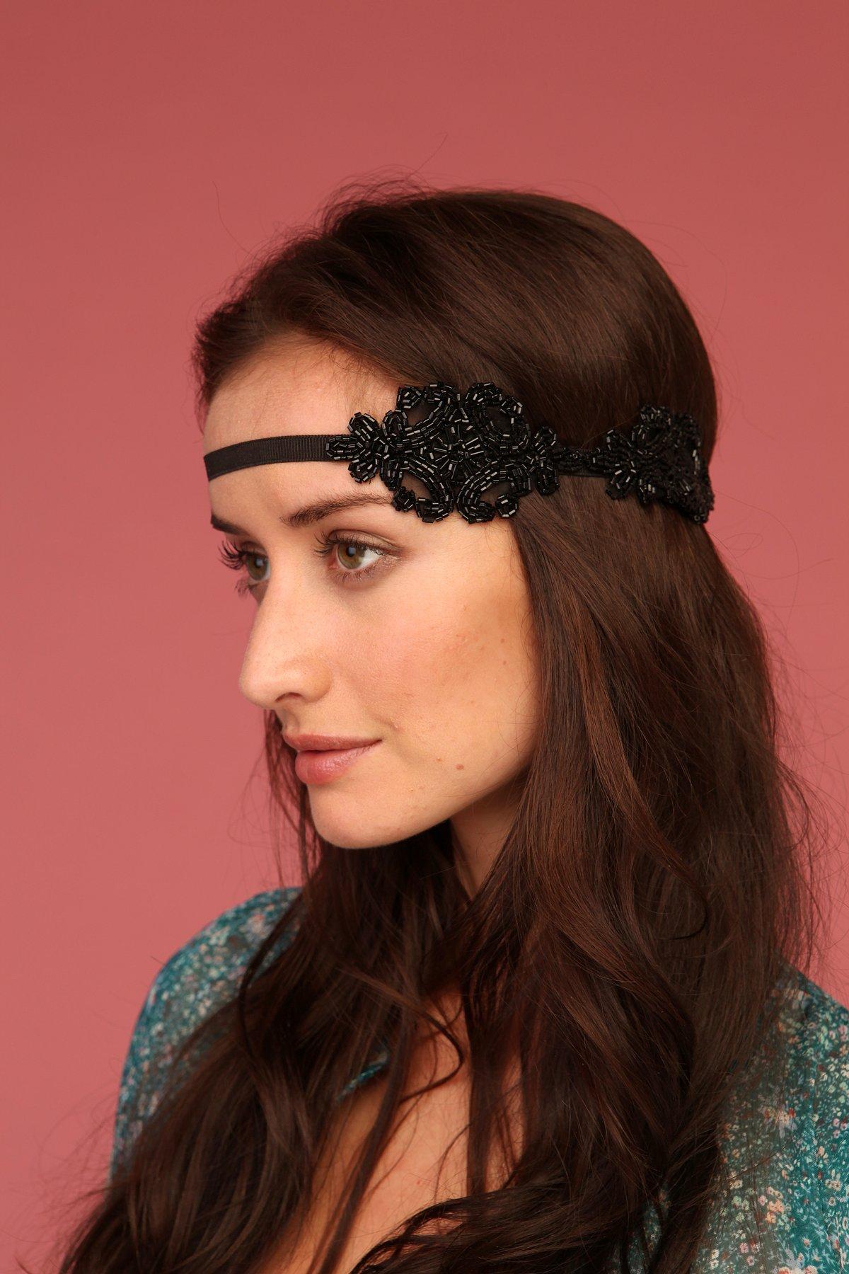 Black Applique Headband