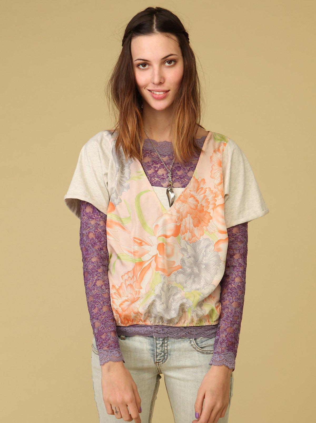 Floral Scarf Print Top