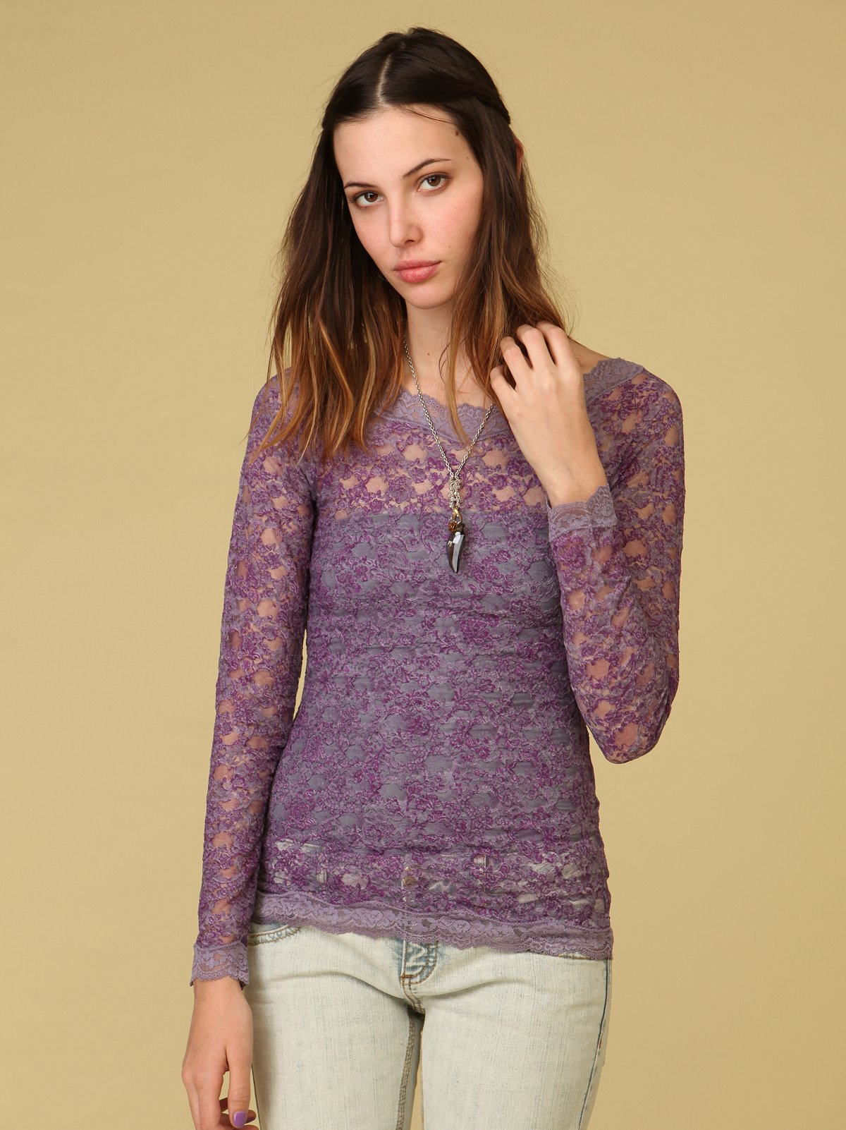 Printed Bronte Lace Top