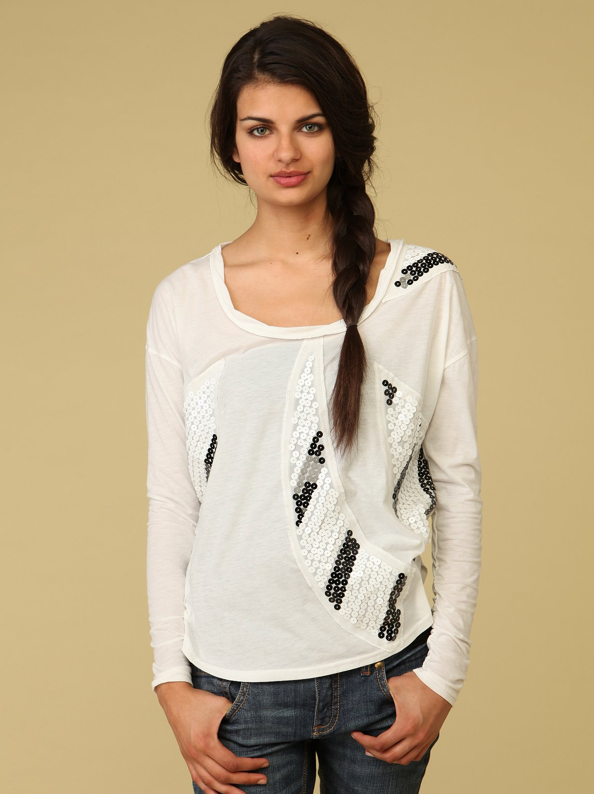 Sequin Trapeze Top