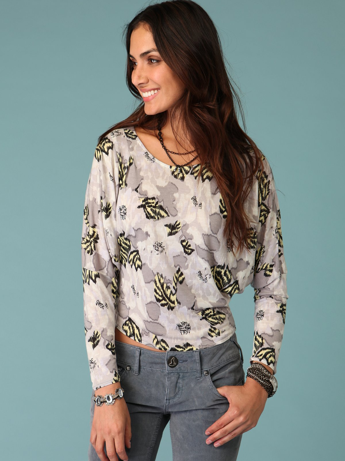 All Over Print Batwing Top