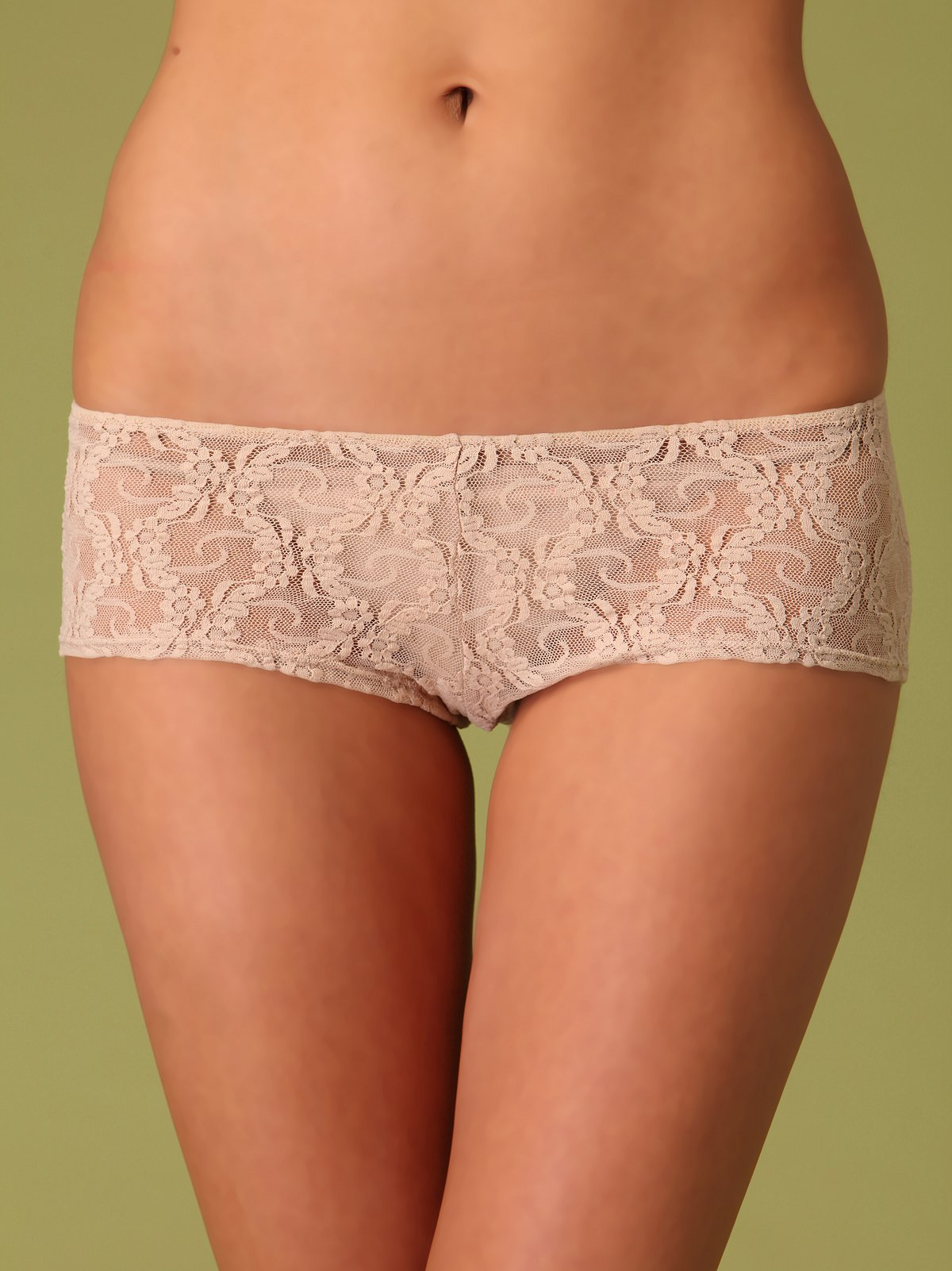 Lace Ruched Back Hipster