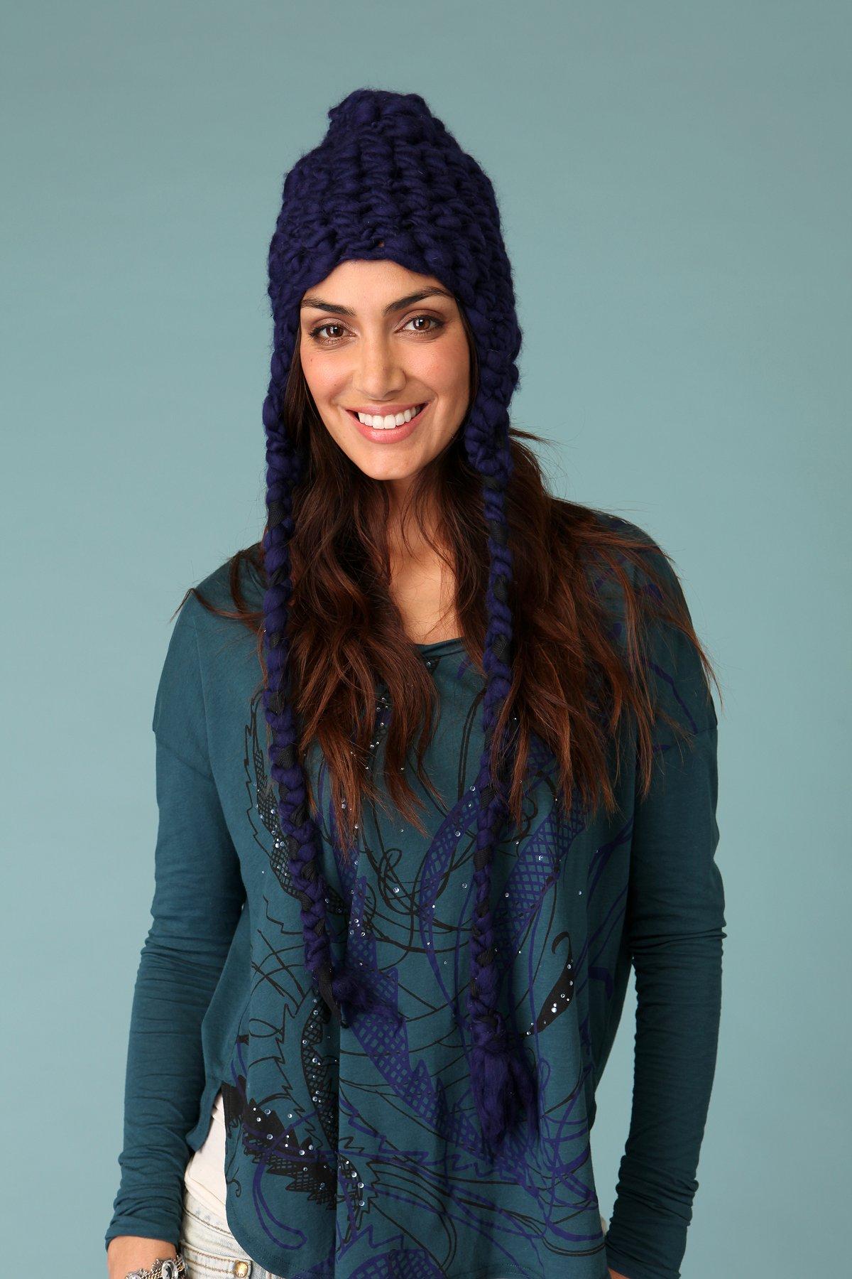 Braided Chunky Yarn Hat
