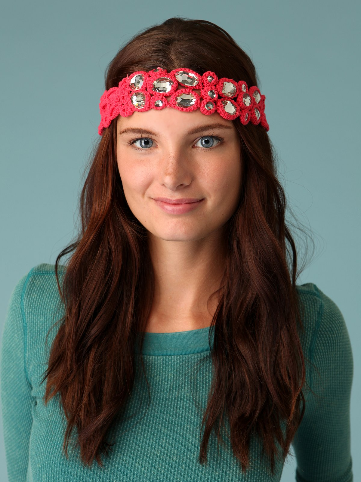 Crochet Gem Headband