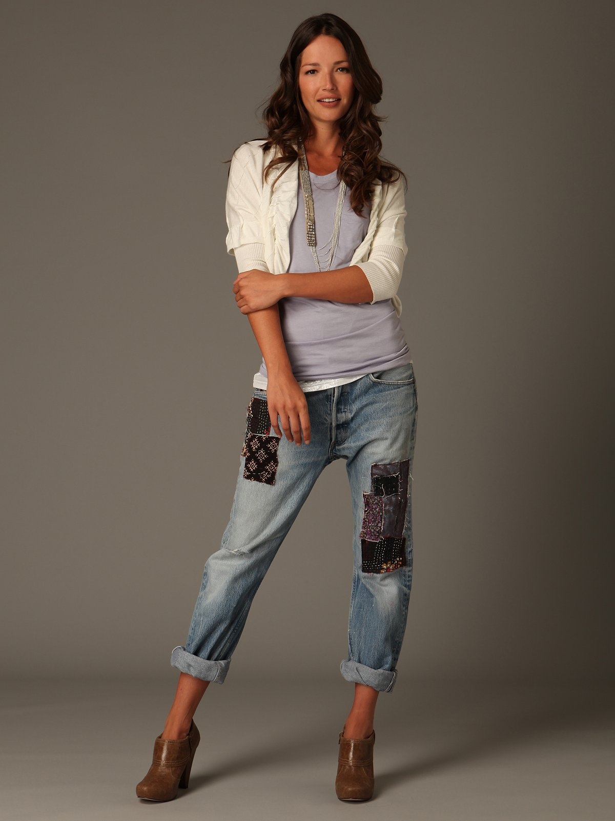 One-Of-A-Kind Patched Boyfriend Jean at Free People Clothing Boutique