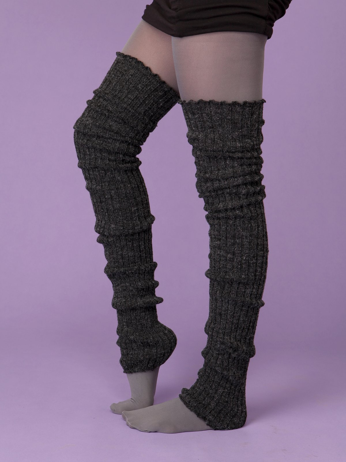Super Long Cable Knit Leg Warmer