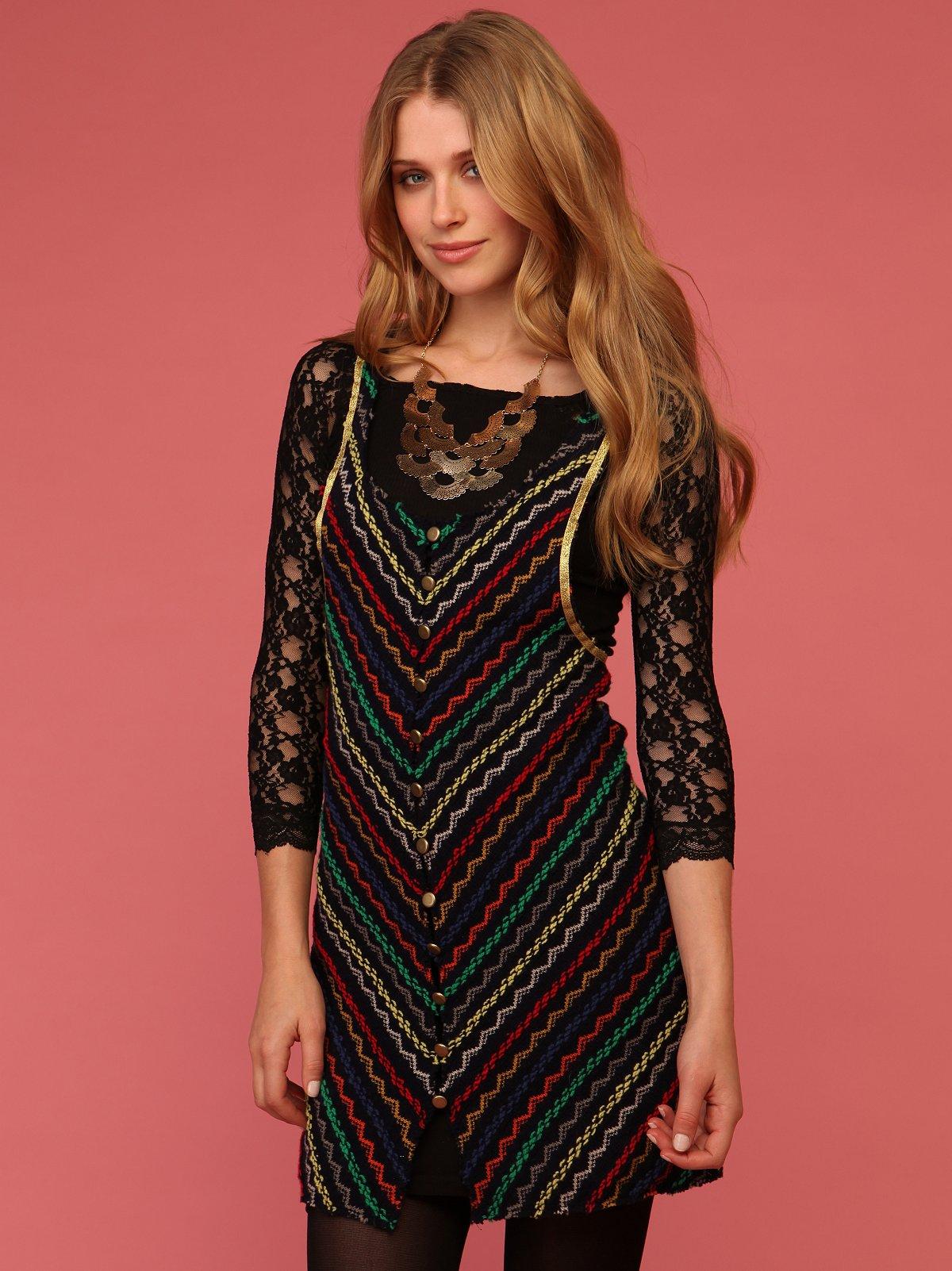 Zig Zag Sweater Dress