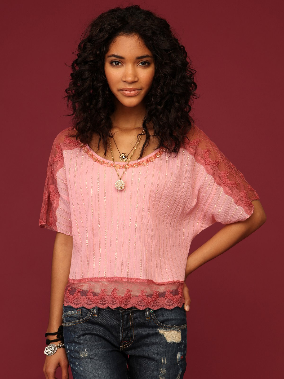 Goldenrod Lace Top