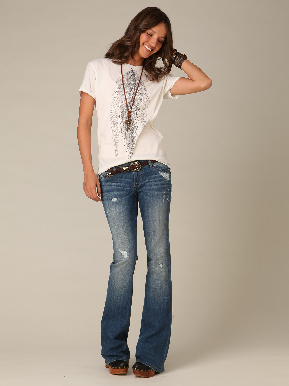 Distressed Kelly Flare By Genetic