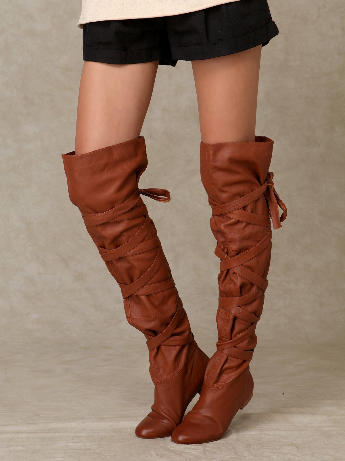 City Wrap Over The Knee Boot