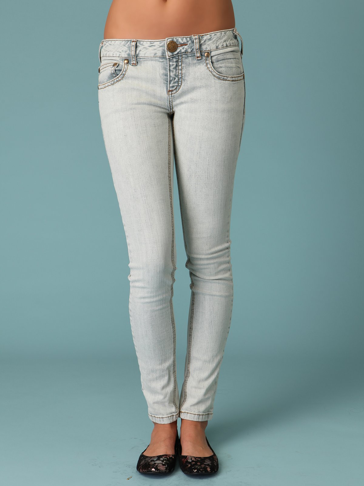 FP Super Skinny Acid Bleach Jeans