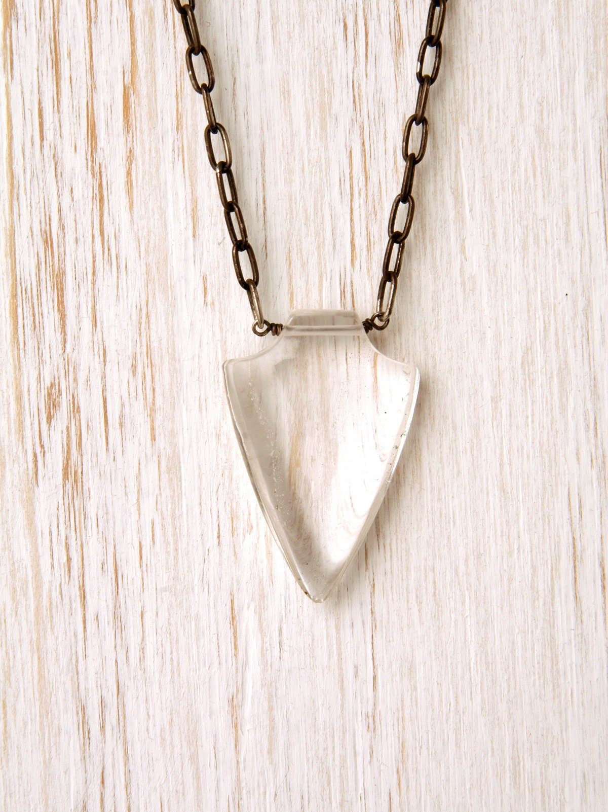 Spearing Crystal Necklace