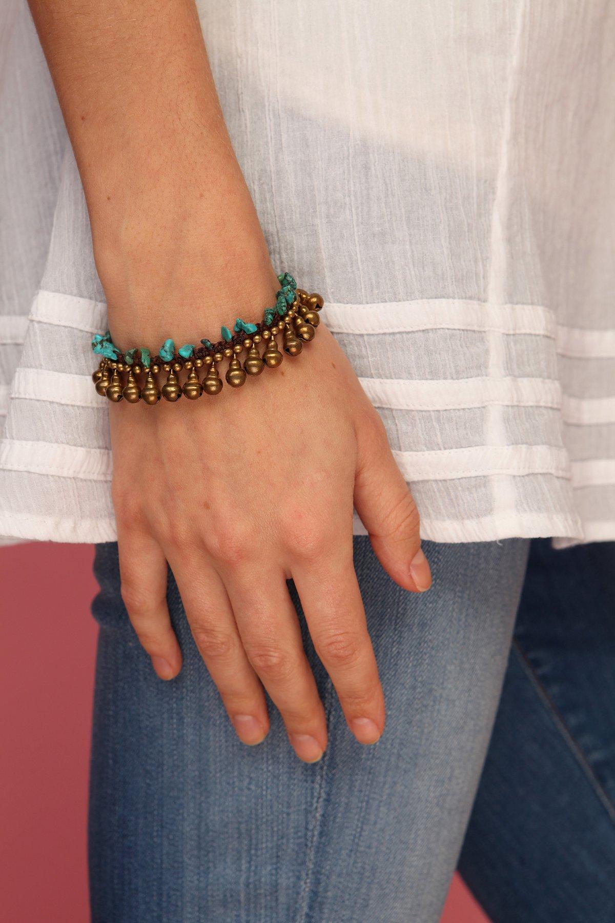 Crawling Turquoise Bracelet