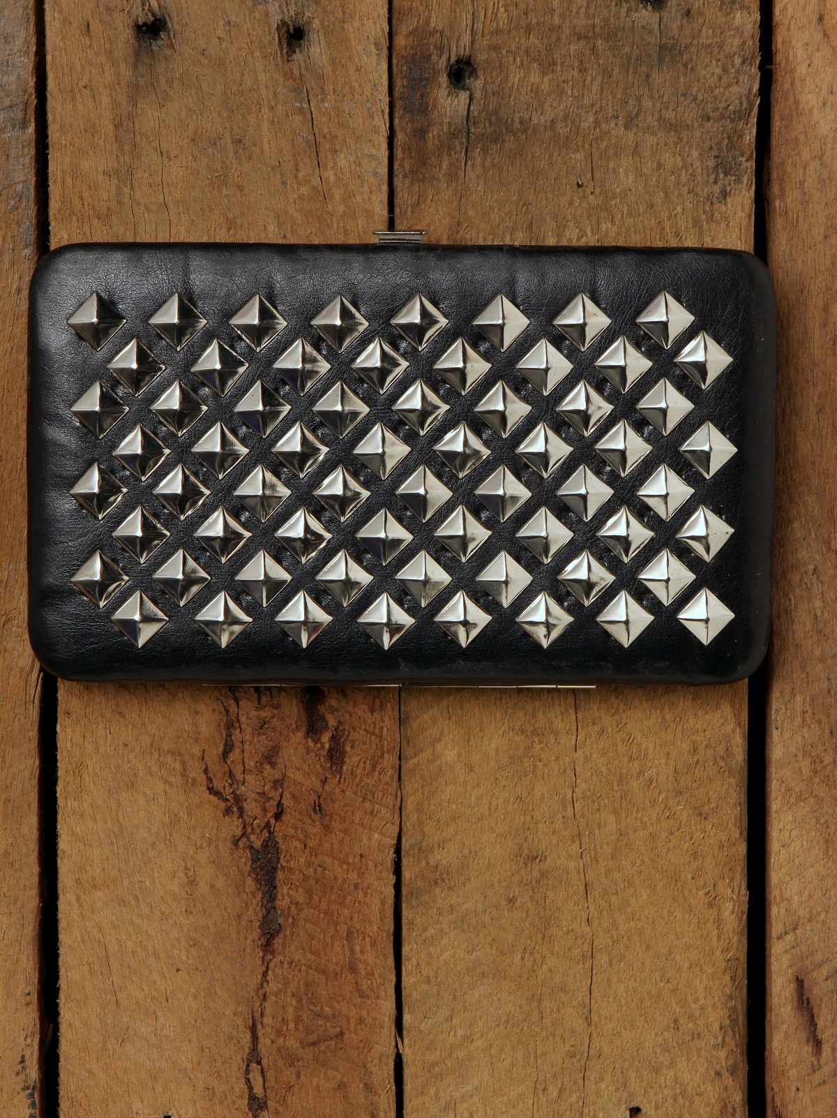 Large Flat Wallet With Studs