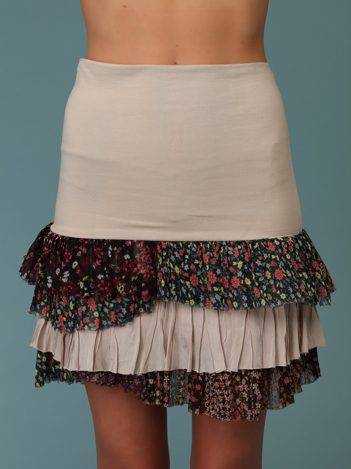 Ditsy Ruffled Layers Skirt