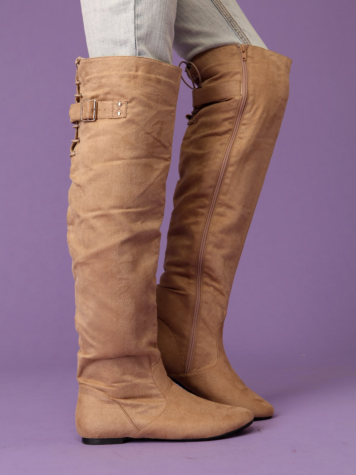 Buckle Back Over The Knee Boot
