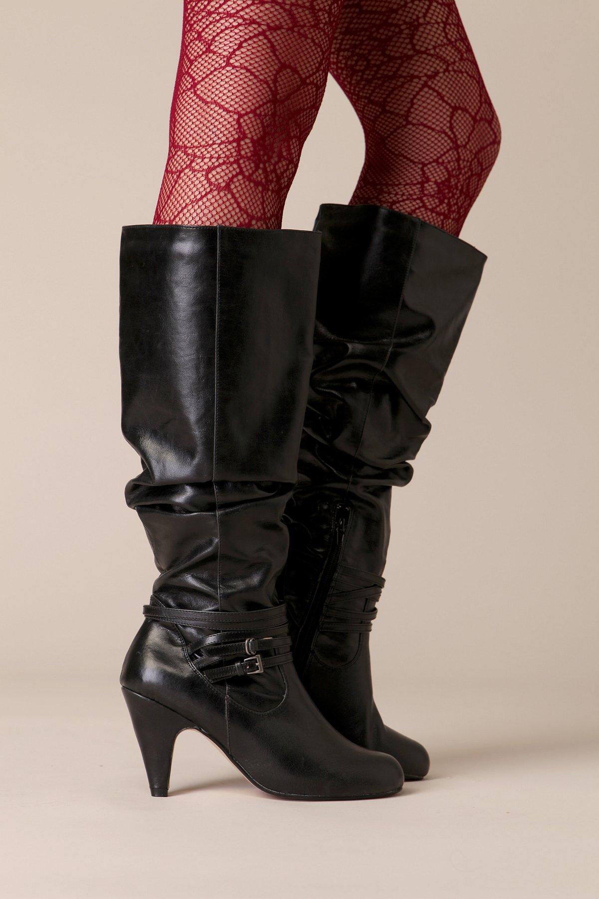 Scrunch Knee Hi Boot