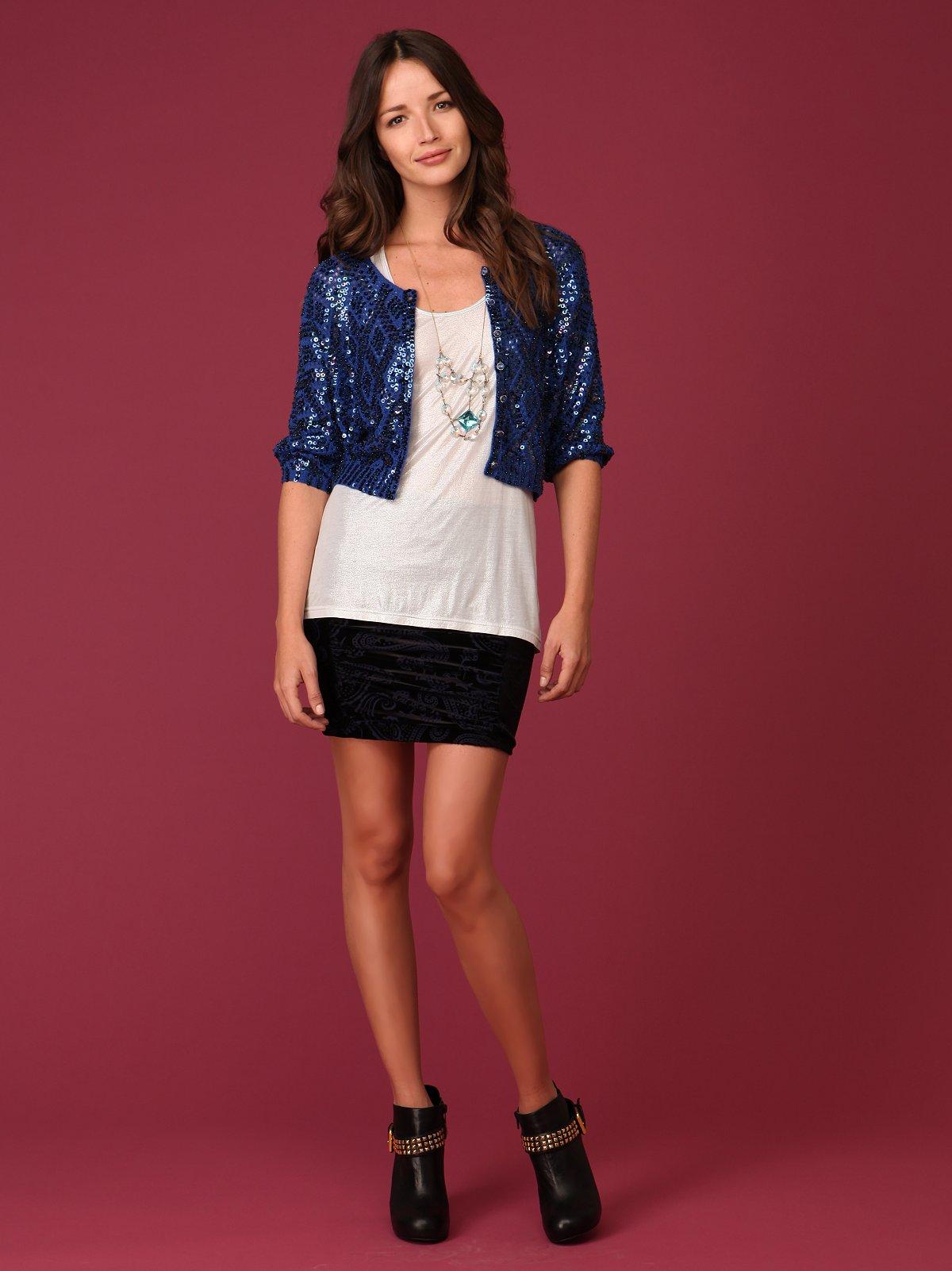 Paisley Velvet Skirt