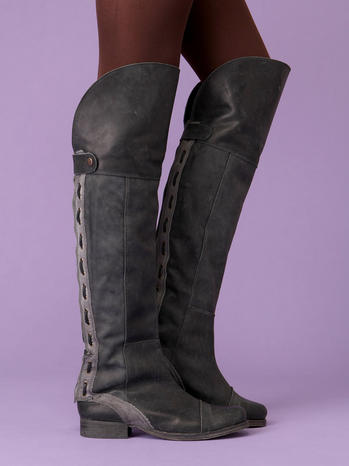 Zip Back Over The Knee Boot