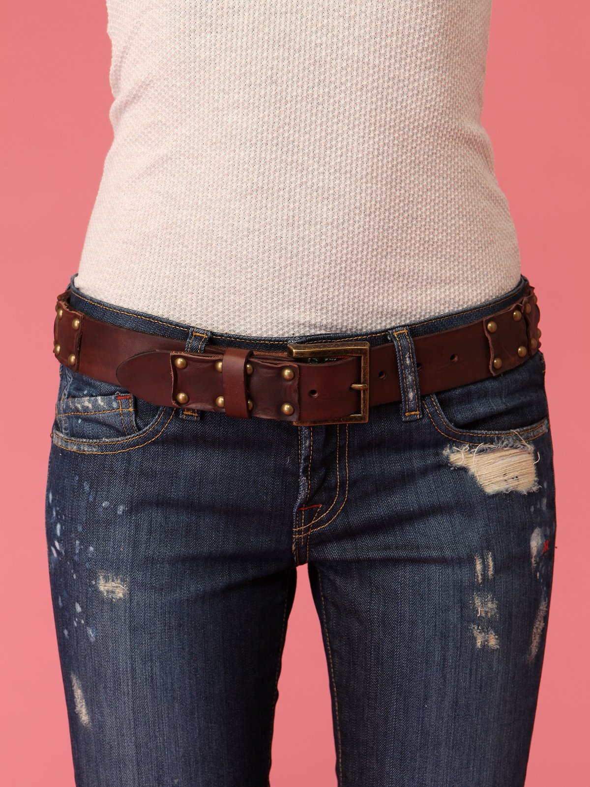 Leather Patched Hip Belt