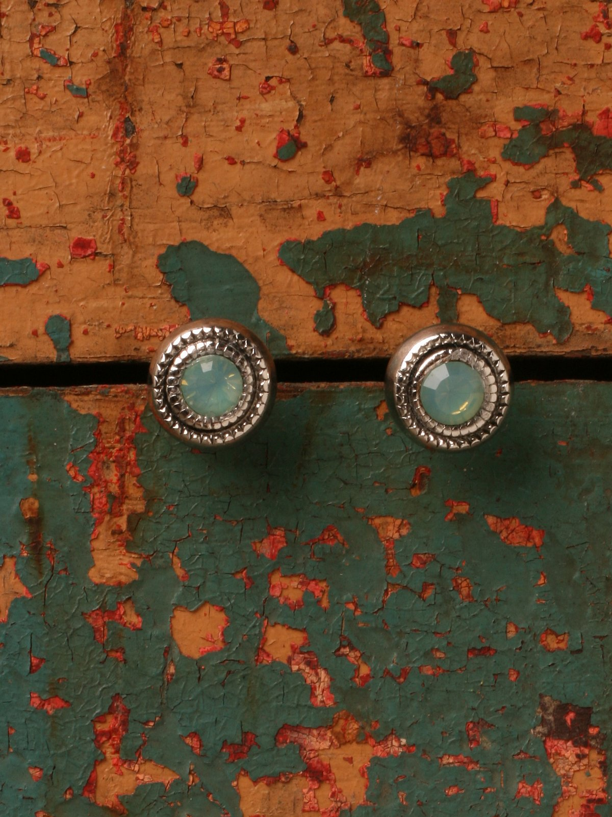 Turquoise Crystal Studs