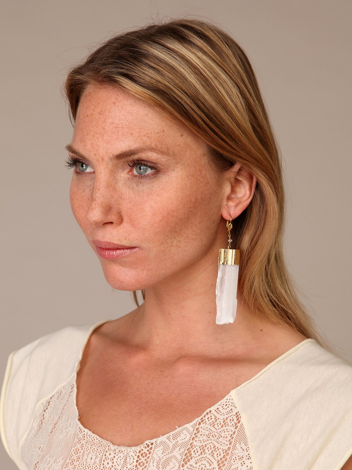 Falling Crystal Earring