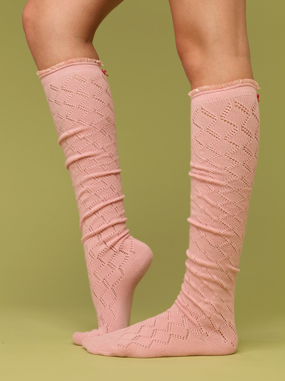 Sweetheart Ruffle Knee Sock