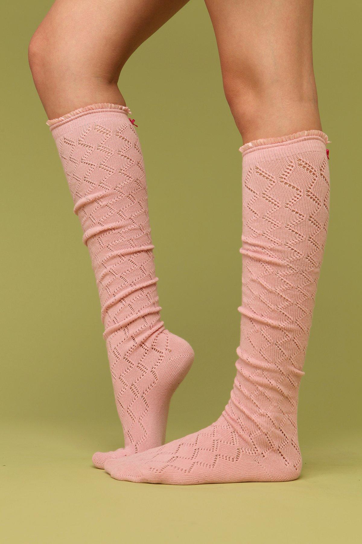 Sweetheart Ruffle Knee Sock