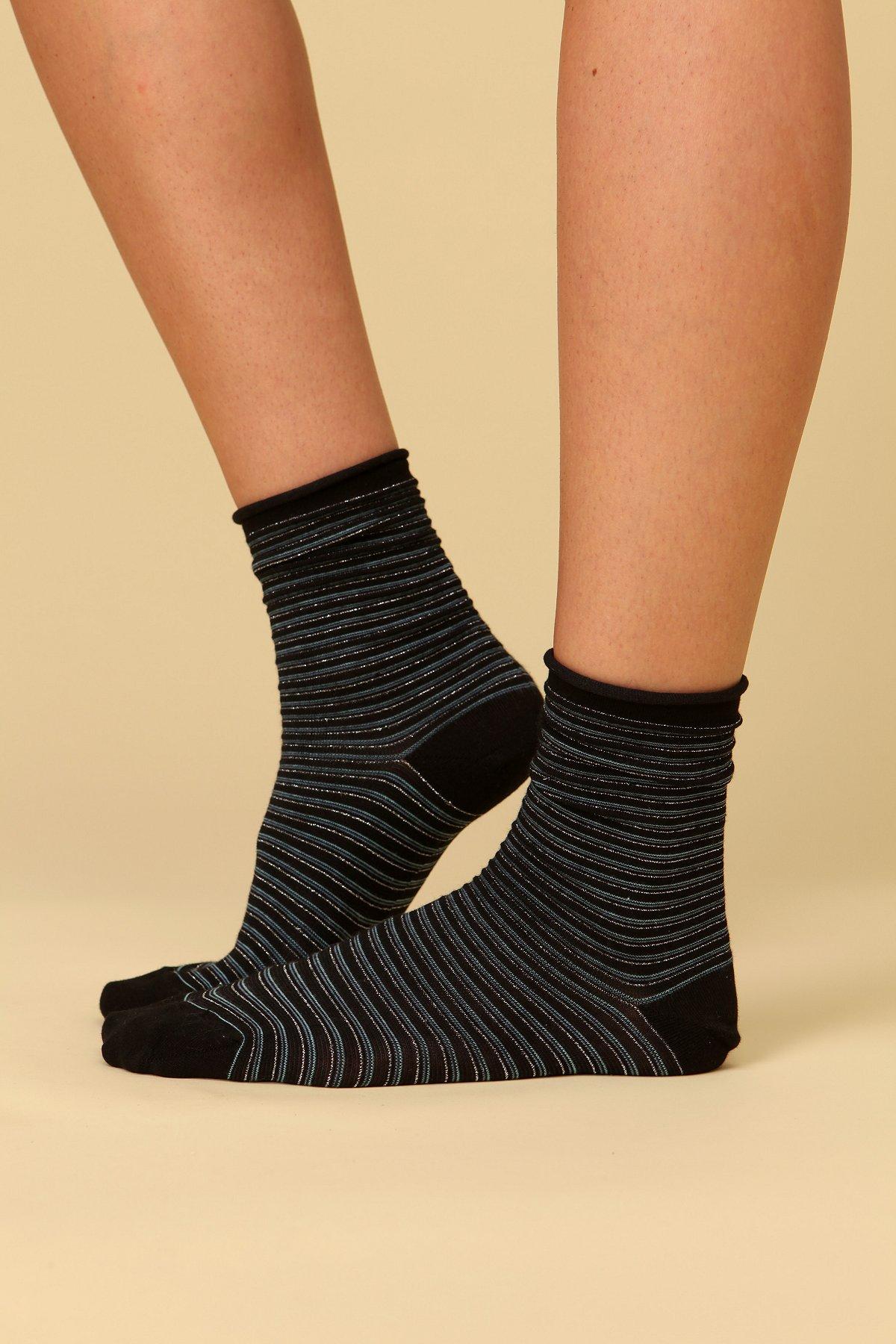 Roll Edge Anklet Sock