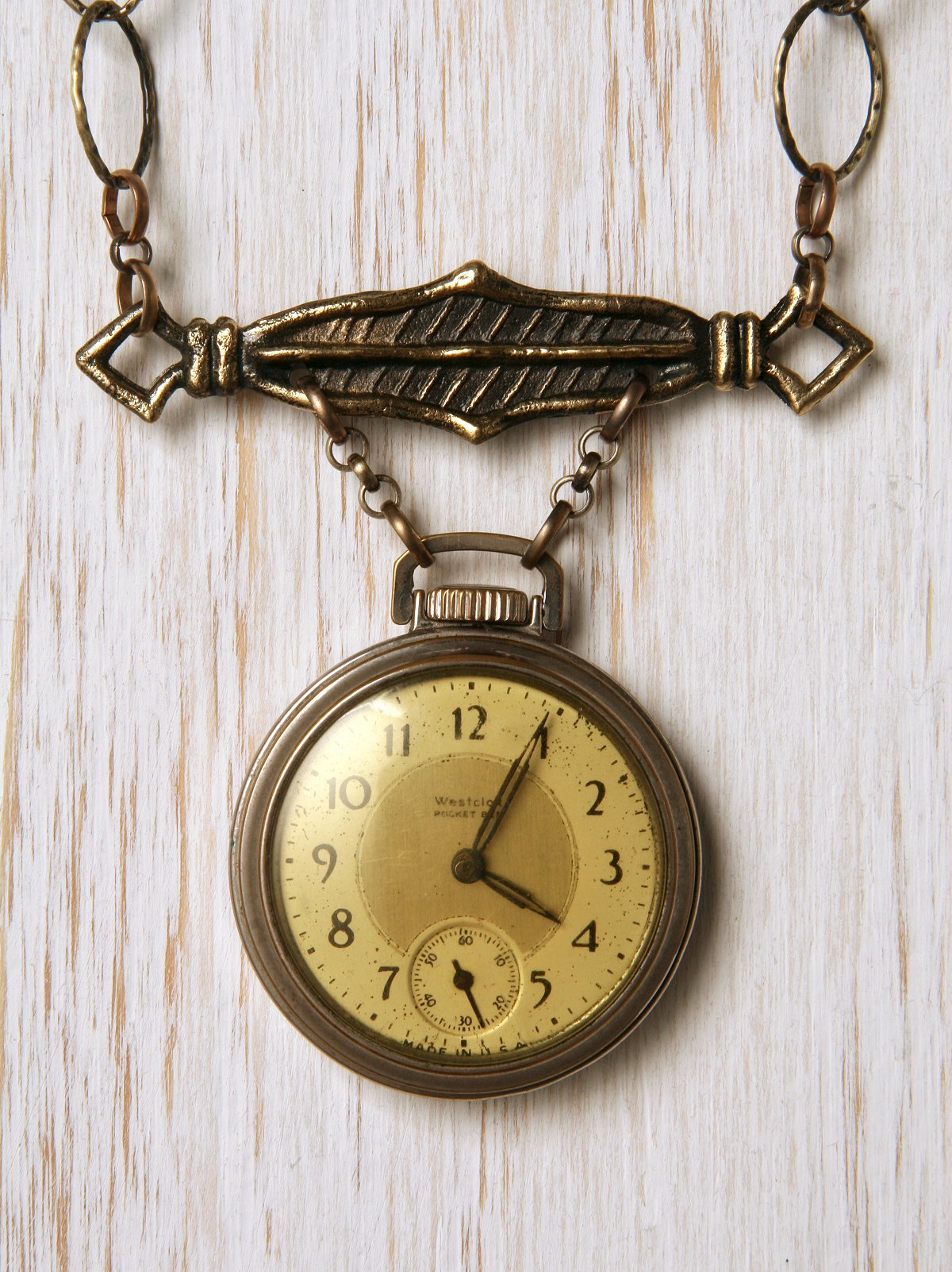 Vintage Pocket Watch One Of A Kind Necklace