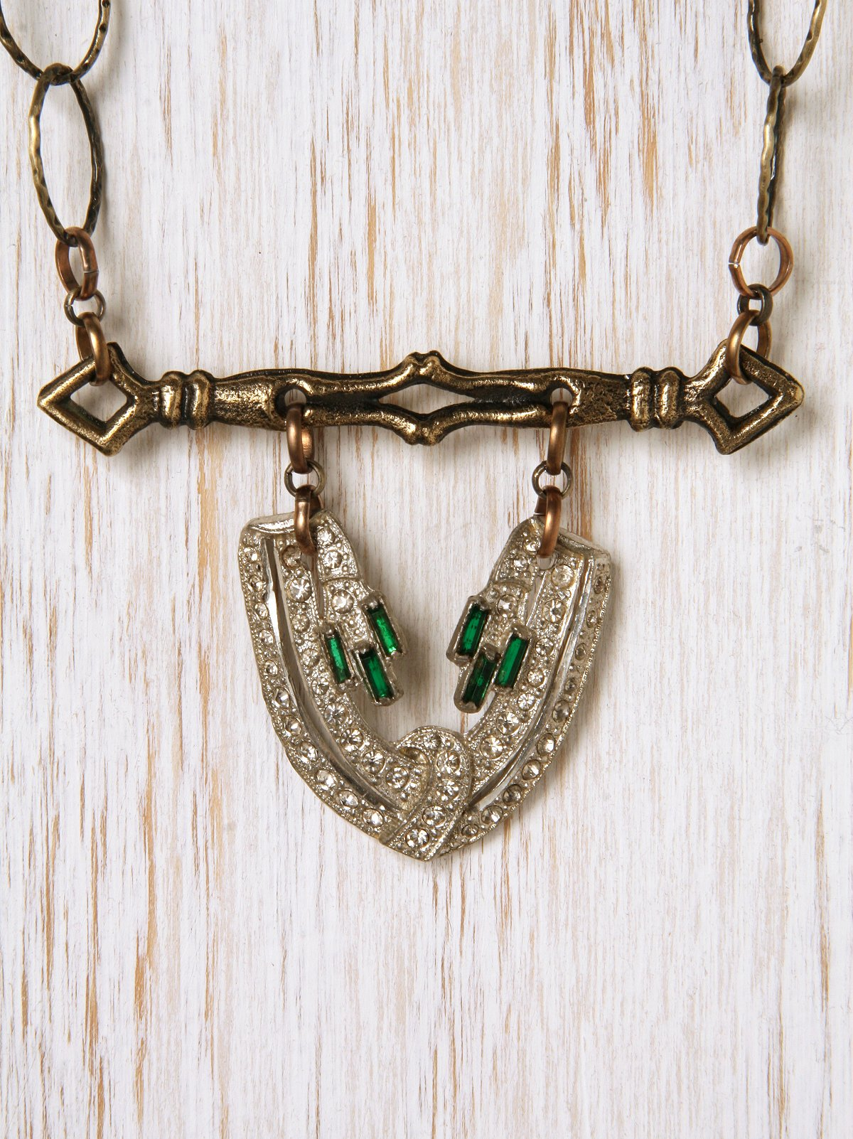 Vintage Rhinestone One Of A Kind Necklace