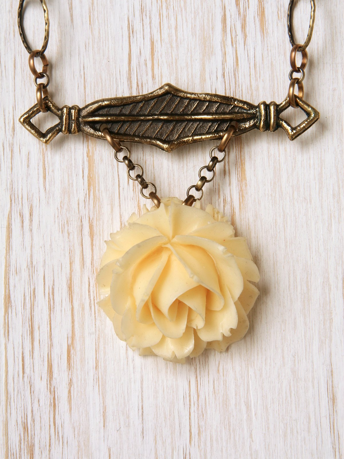 Vintage Flower One Of A Kind Necklace