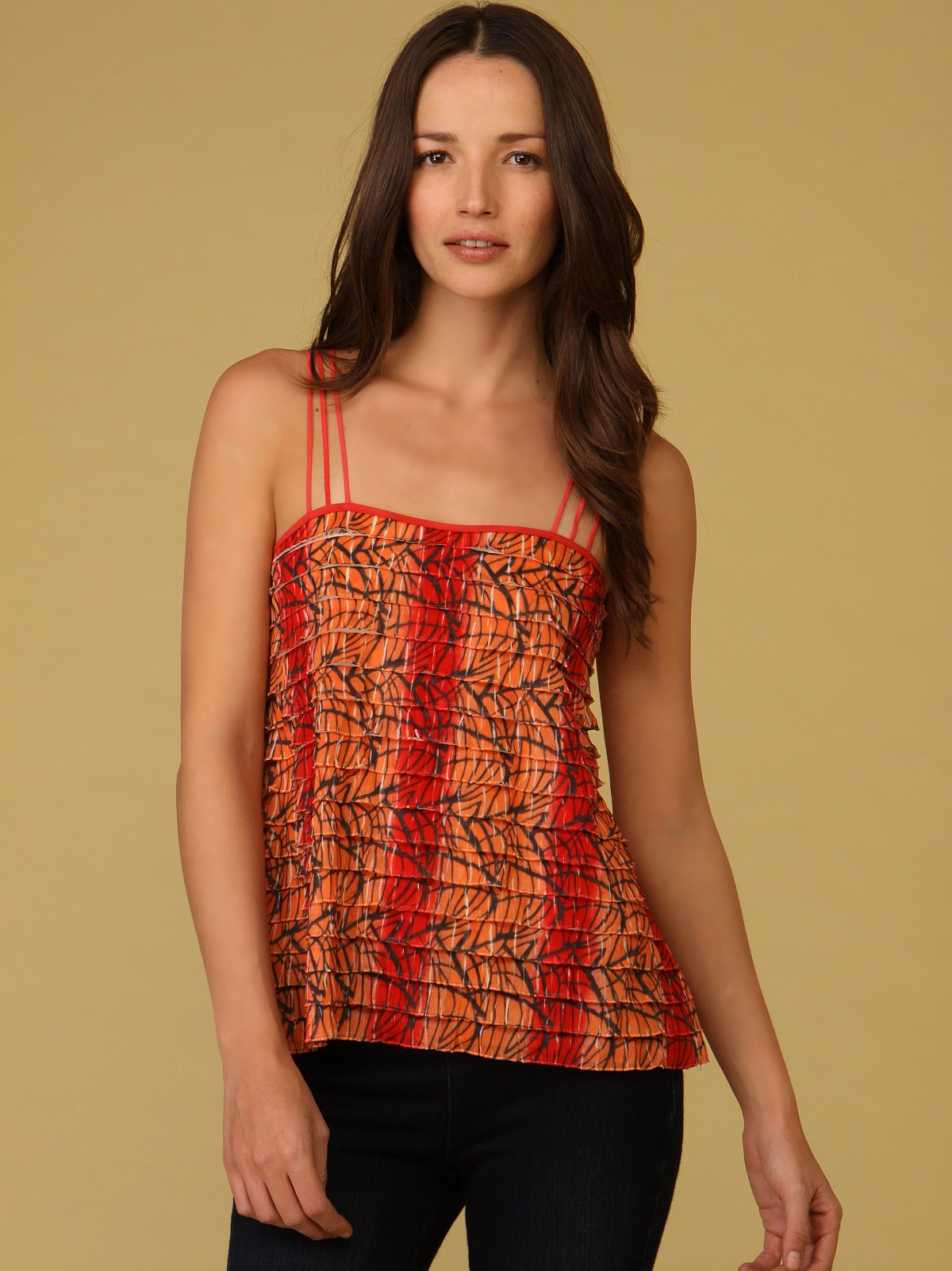 Abstract Ruffle Tank