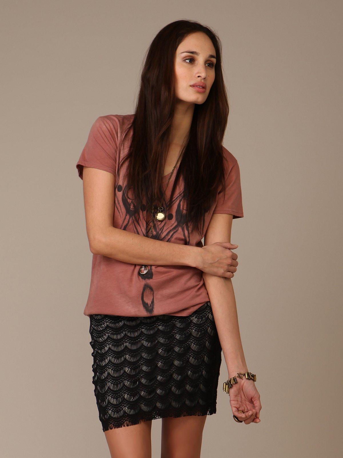 Scalloped Lace Skirt