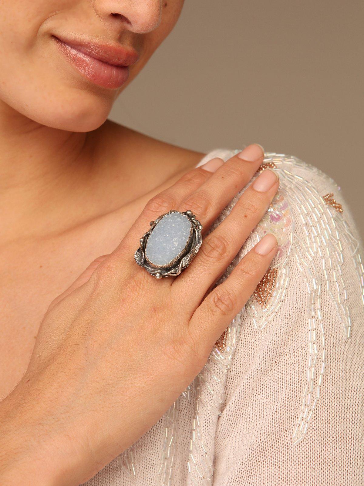 Blue Snow Ring