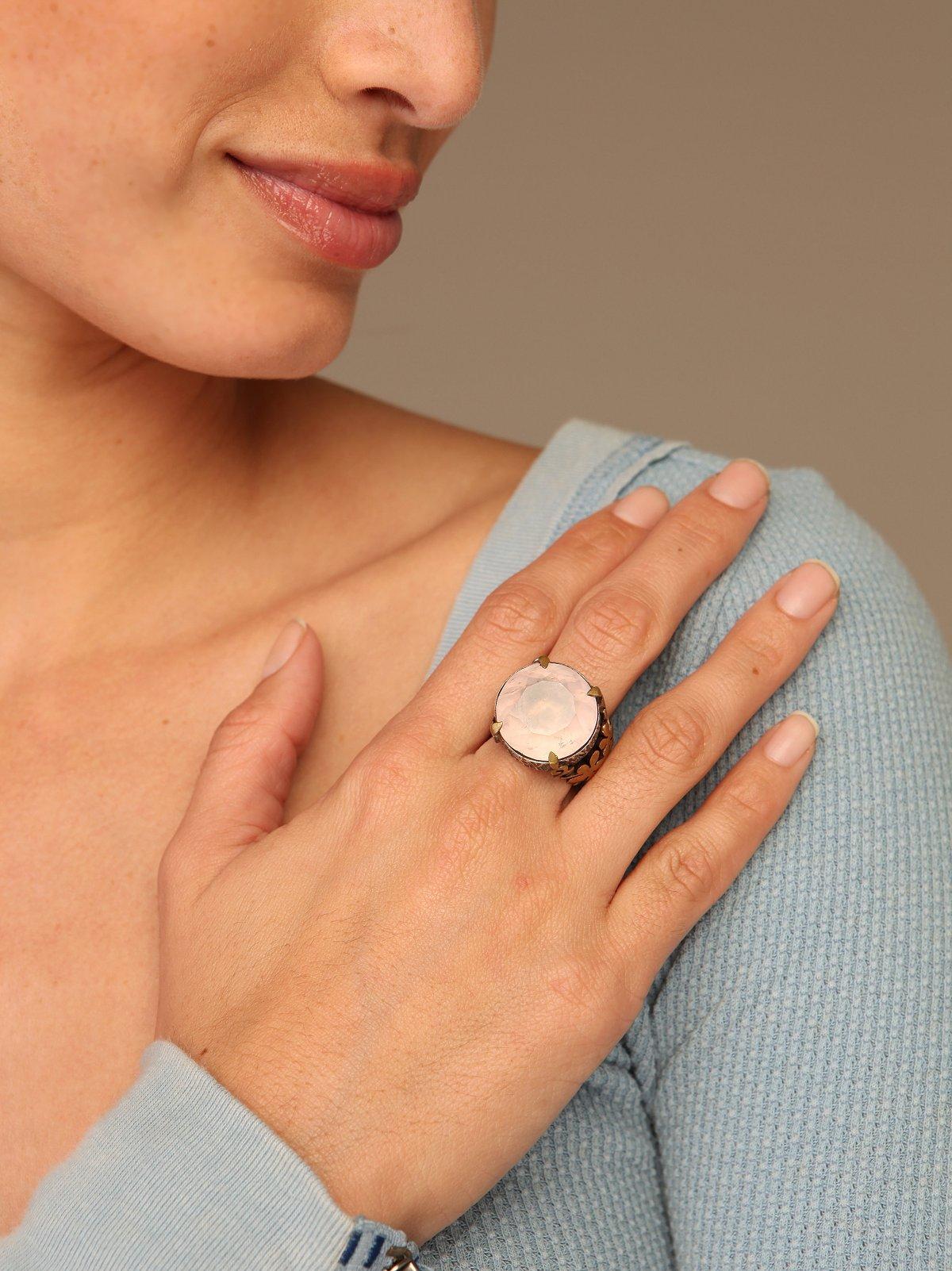 Pink Drop Ring