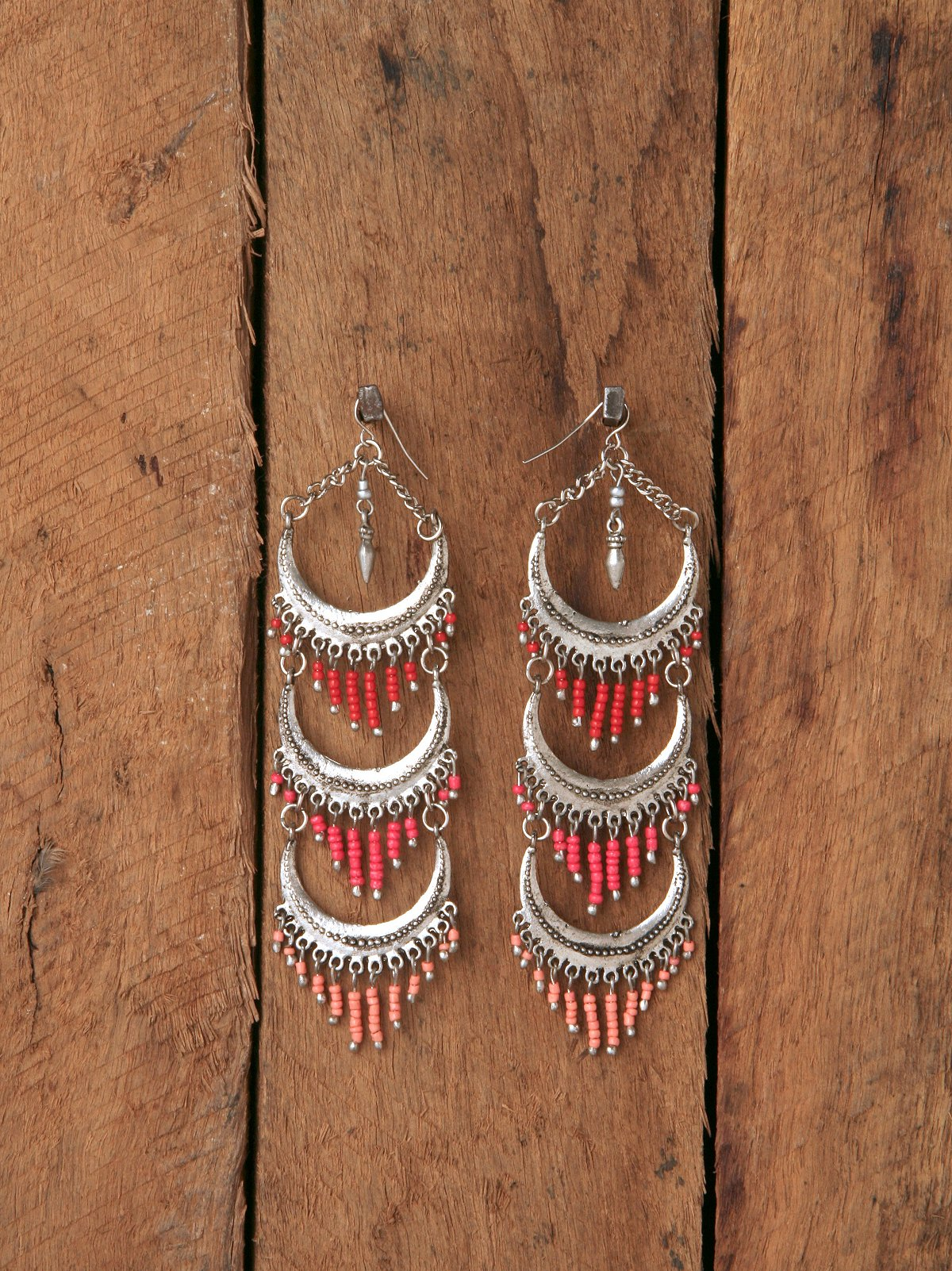 Long Fringe Tierred Earrings