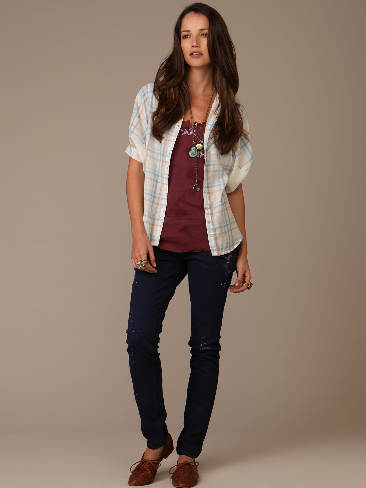 FP Paint Splatter Skinny Jeans