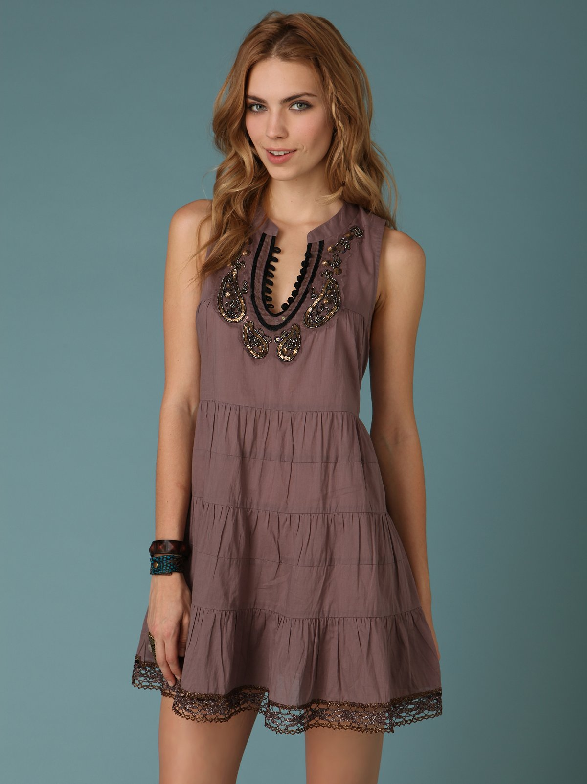 Paisley Necklace Dress