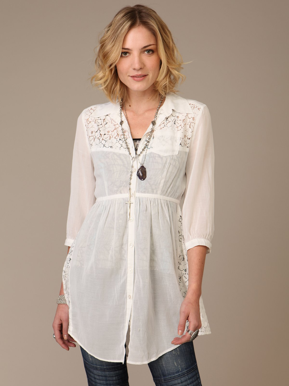 Button Up Lace Dress