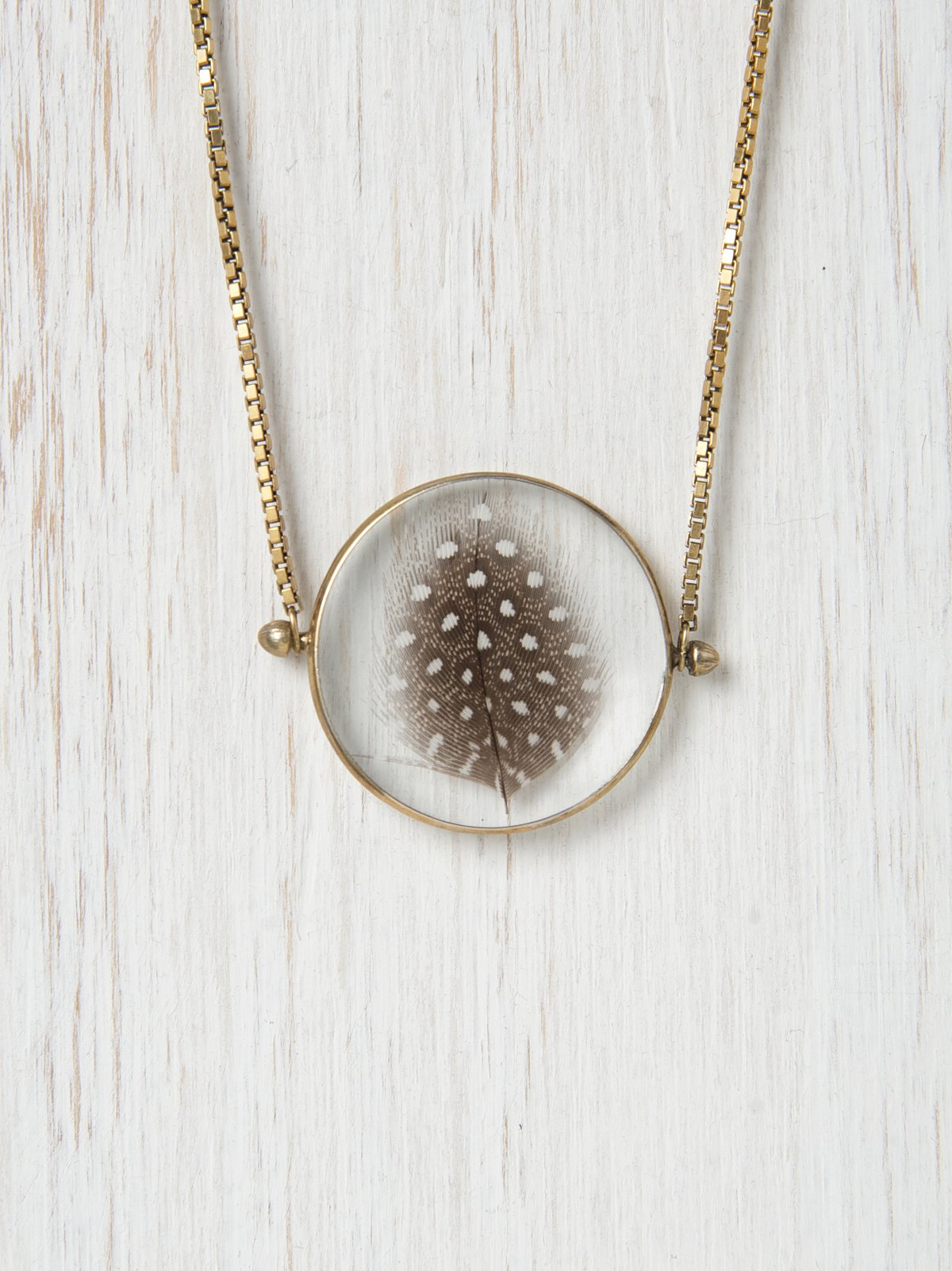 Feather Looking Glass Necklace