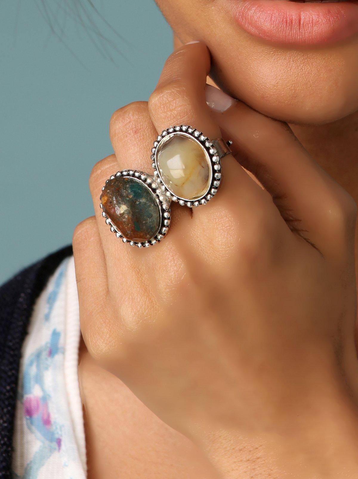 Double Finger Rock Ring