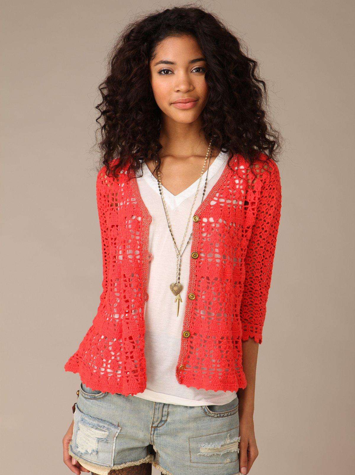 Track Crochet Cardigan