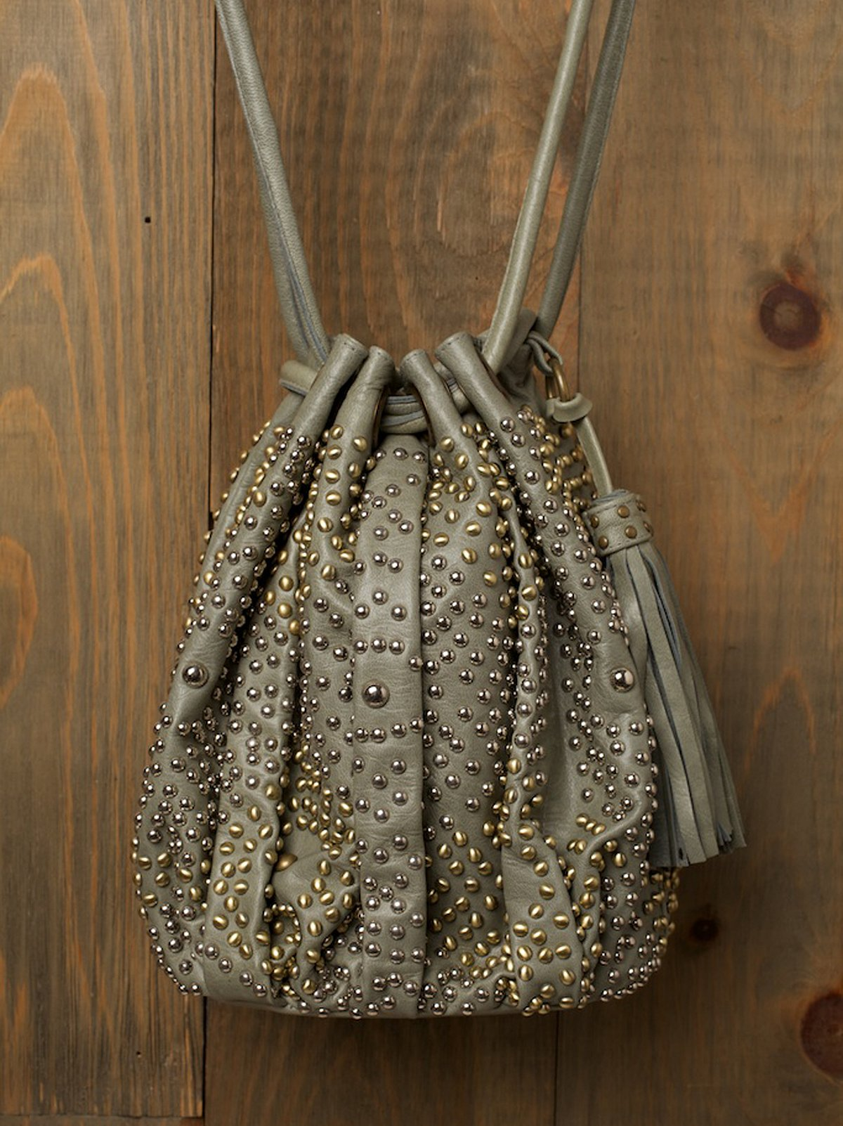 Nevaeh Studded Bucket Bag