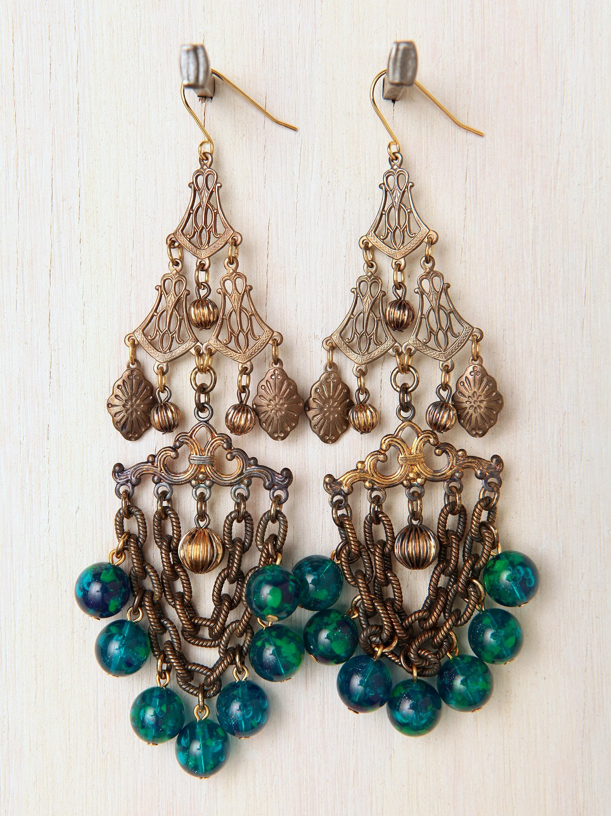 One Of A Kind Blue Chandelier Earrings